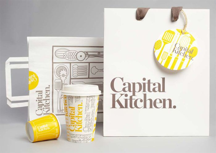 Whimsical packaging design by Cornwell for Capital Kitchen, a cute kitchen supply store based in Melbourne, Australia. #packagingdesign #capitalkitchen #cornwell