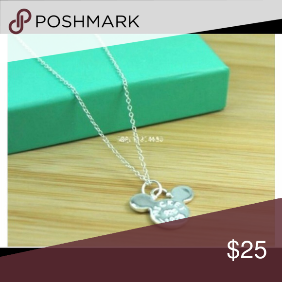 Mickey sterling silver 16 in necklace New with tag. Jewelry Necklaces