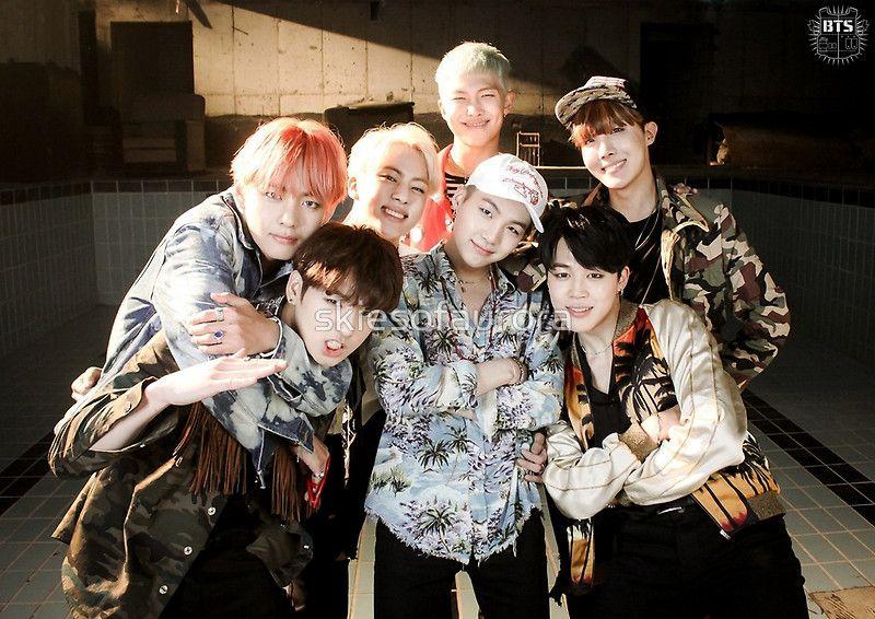 BTS/Bangtan Sonyeondan - Fire Group Photo by skiesofaurora