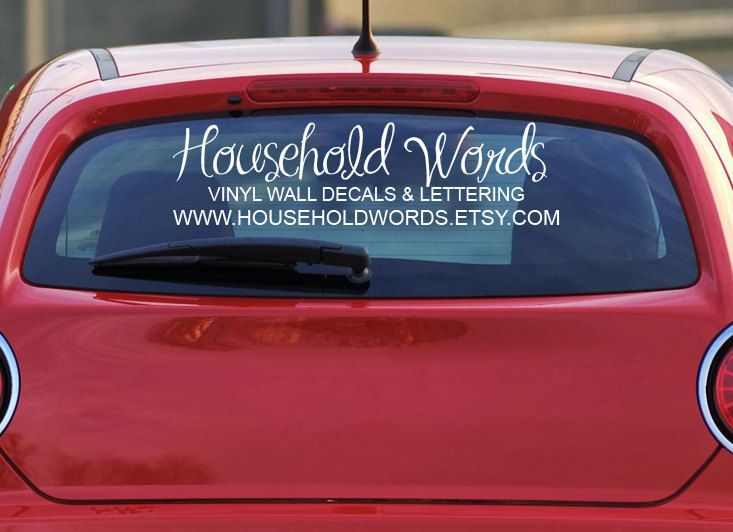 Custom car decals for window your logo personalized made to order decals vehicle stickers advertise your business 20 00 via etsy