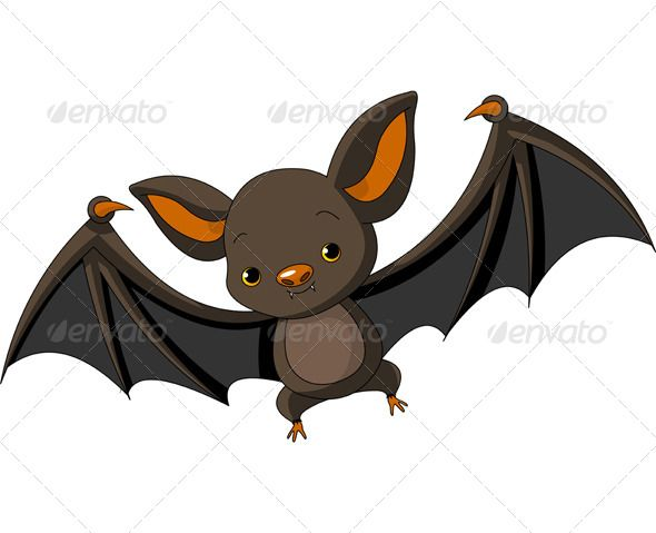 Bat animal. Halloween flying graphicriver reference