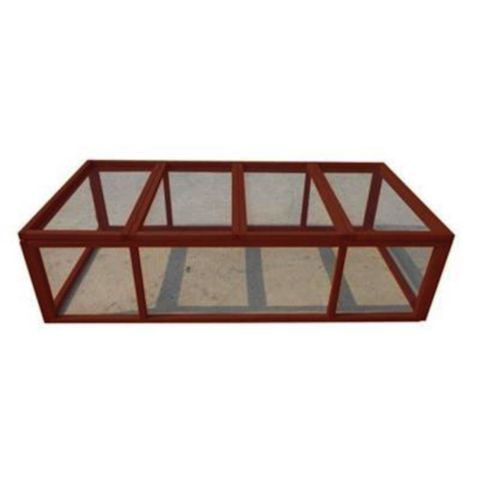 Possible Grow Out Cage For Rabbits Seems Easy Enough To Duplicate With My Own Materials Would Add Legs To Keep Off Grou Rabbit Run Rabbit Cages Pet Supplies