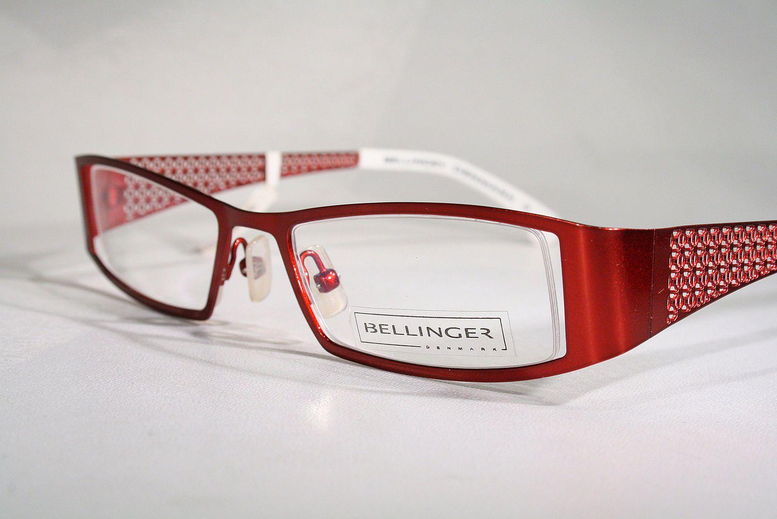 a3617cb91dd BELLINGER Metallic Candy Red Danish Design Semi Rimless Eyeglass Frames  Large