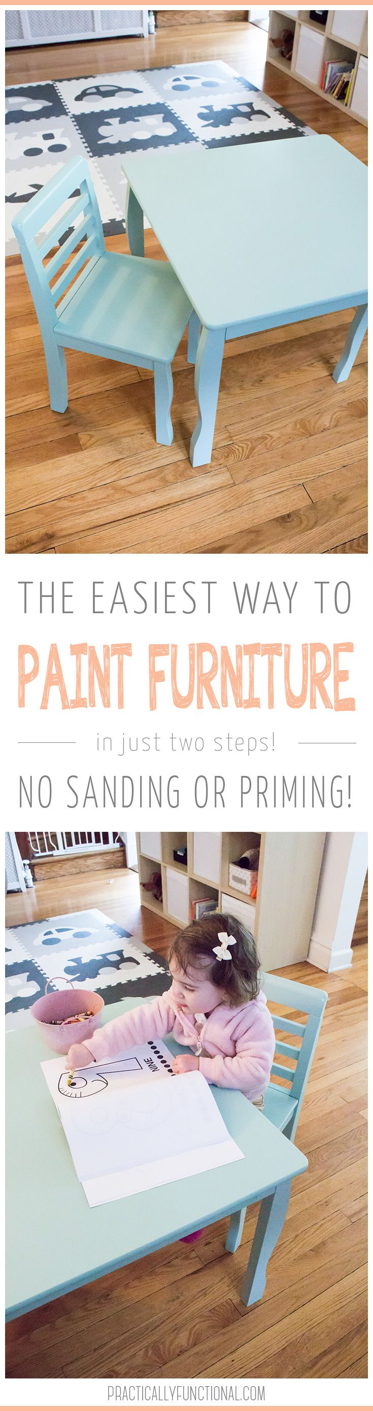 Paint wood furniture without having to sand or prime it first  So easy to do. The Easiest Way To Paint Furniture   No Sanding Or Priming