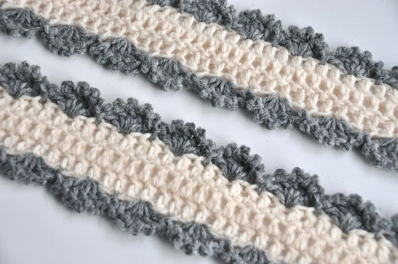 Two Color Crochet Skinny Scarf Pattern Crochet Scarf Pattern