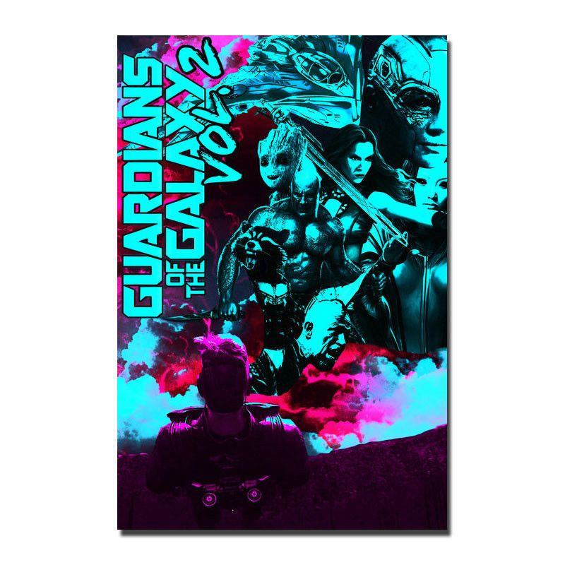 Guardians Of The Galaxy Hot Movie Art Silk Poster Canvas Print 12x18 24x36 inch