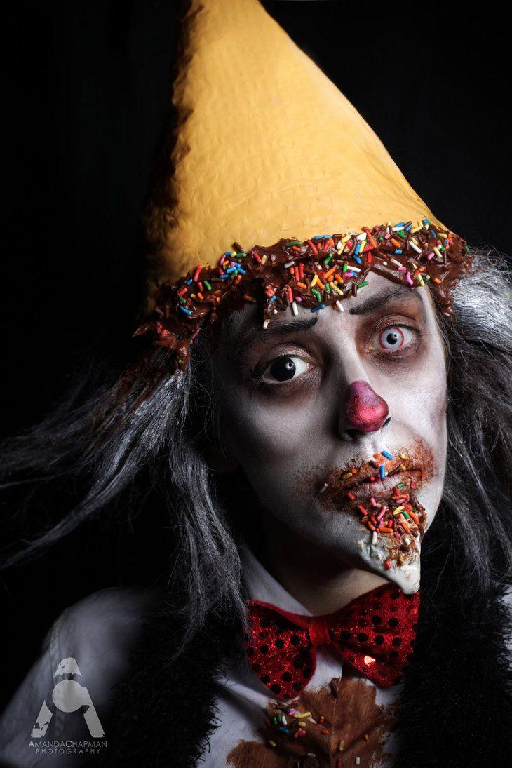Halloween Makeup Ice Cream Clown (Inspired By Matt Valentine  Face Off)