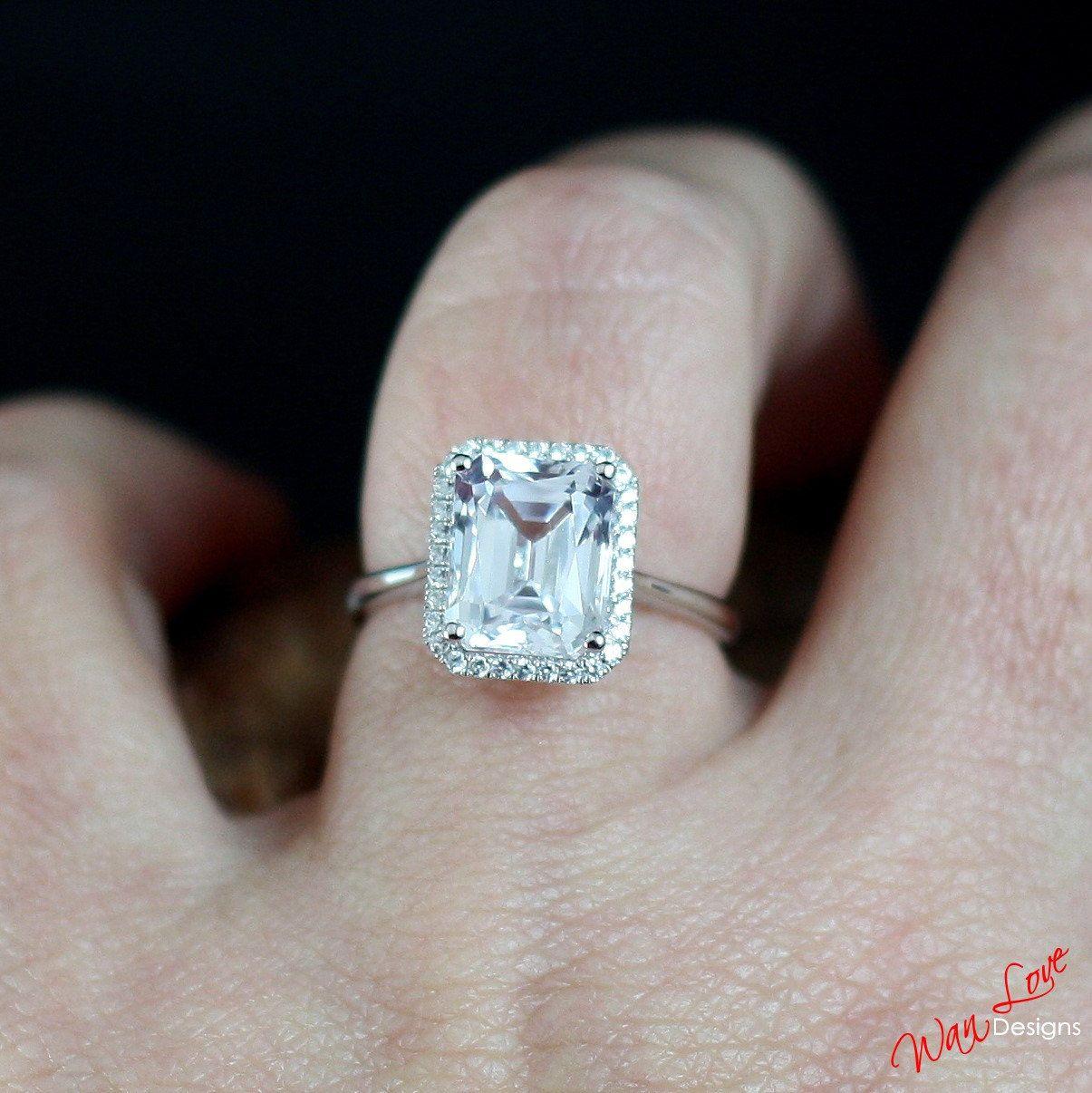 16++ White sapphire wedding band sets ideas