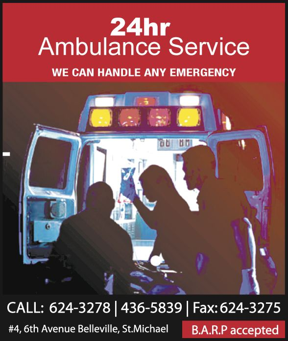 Offering the very best in first class Emergency Ambulance Services to both Barbadians and visitors.