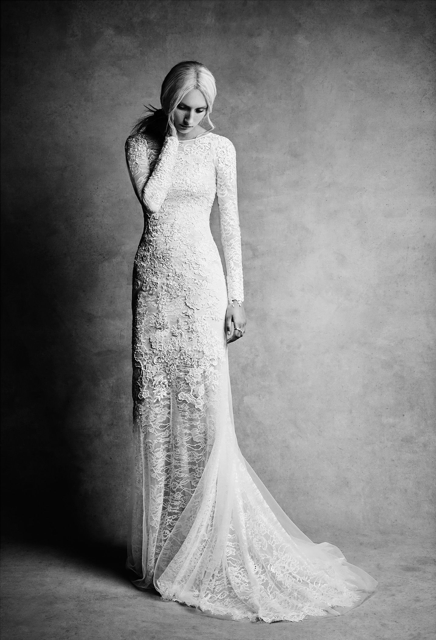White By Vera Wang Lace And Beads Wedding Dress At Davids Bridal