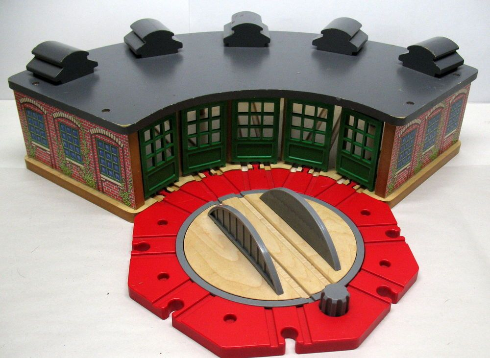 Thomas Friend Wooden Railway Roundhouse Turntable Ba 2000 Vguc