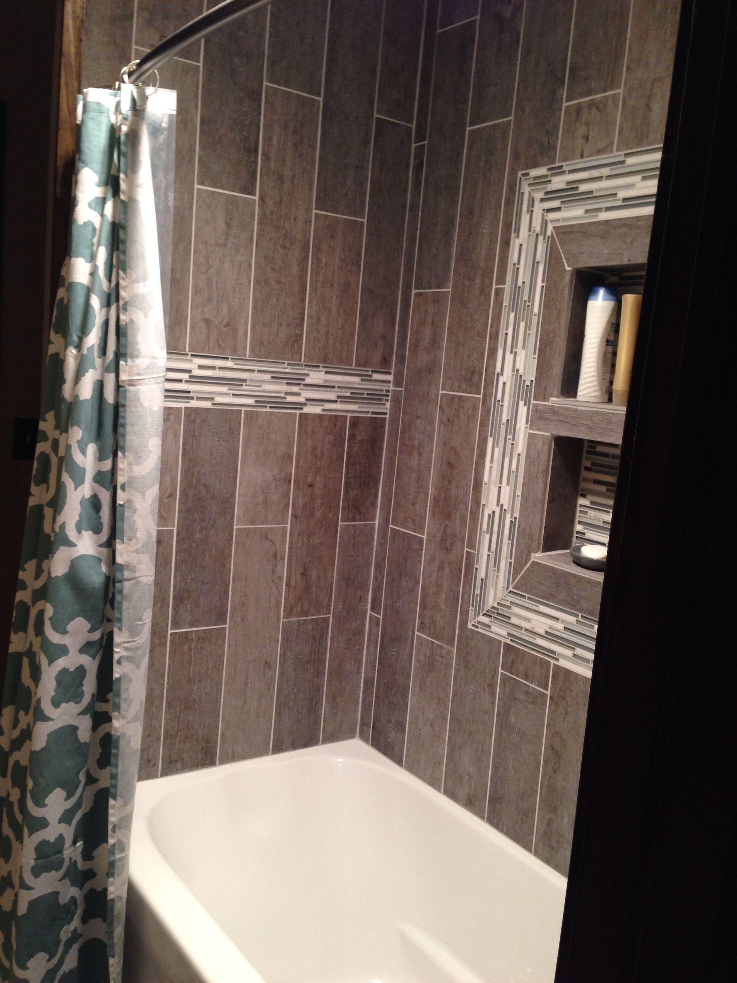 Bathroom shower tile and shower curtain Bathroom shower