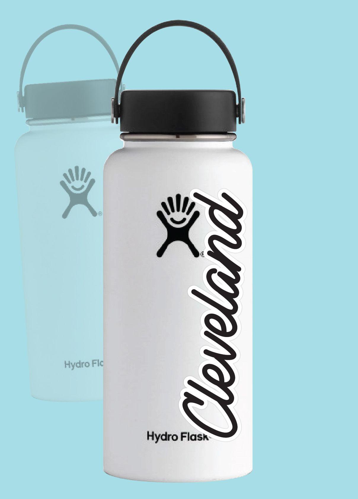Script Cleveland Ohio Souvenir Sticker Look Sticker By Jazmssa Bottle Stickers Flask Water Bottle Hydro Flask Water Bottle