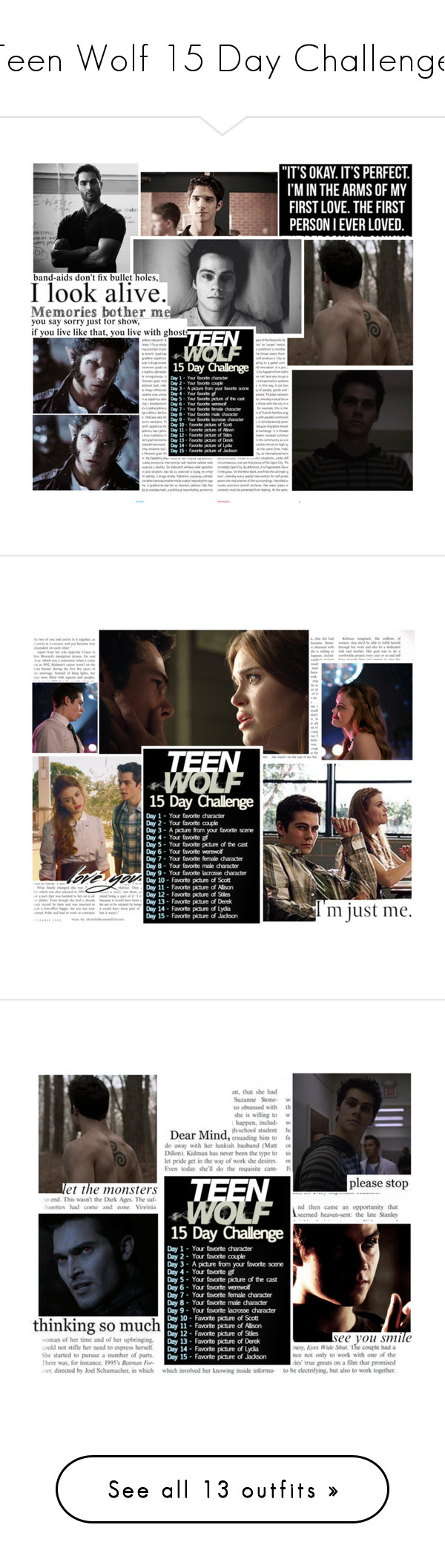 """Teen Wolf 15 Day Challenge"" by jen-the-glader ❤ liked on Polyvore featuring Oris, savelydia, SHAN and Katie"