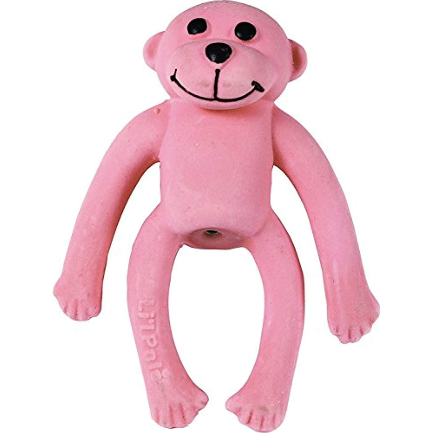 Coastal Pet Products Li L Pals Latex Monkey Dog Toy Pink 4 Inch