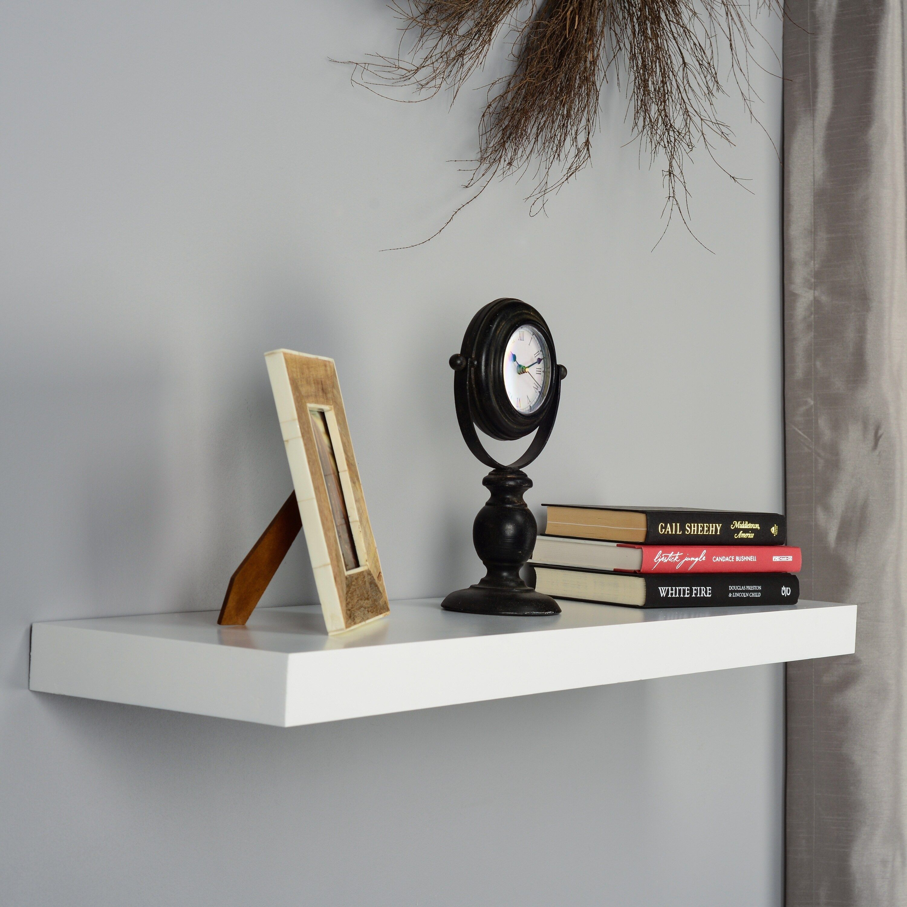 Harper Blvd Tampa 36 Inch White Floating Shelf As Is Item Os3637en White Floating Shelves Floating Shelves Floating Shelves With Lights