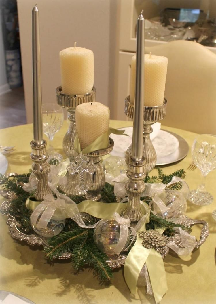 Tischdeko Weihnachten Tablett Weihnachts Set Mit Teelichtern Und Deko