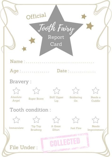 Free printable Tooth Fairy certificate | The Fairy Nice Trading Company #toothfairyideas