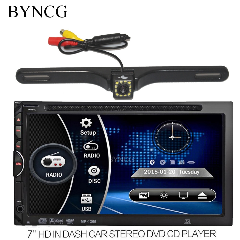 (66.68$)  Know more  - Autoradio Car Auto Radio DVD Player 7 inch In-dash Stereo Video 2 din DVD/USB/SD/MP4 Player RDS UI Bluetooth FM/AM Radio