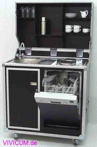 Kitcase mit 45er Geschirrspüler statt Kühlschrank.   Küche für ...