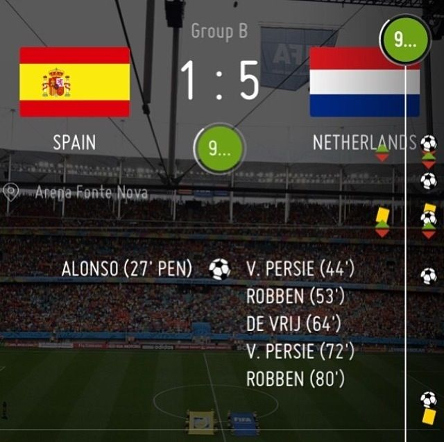 Spain Vs Netherlands Match Final Score World Cup 2014 Fifa World Cup World Cup