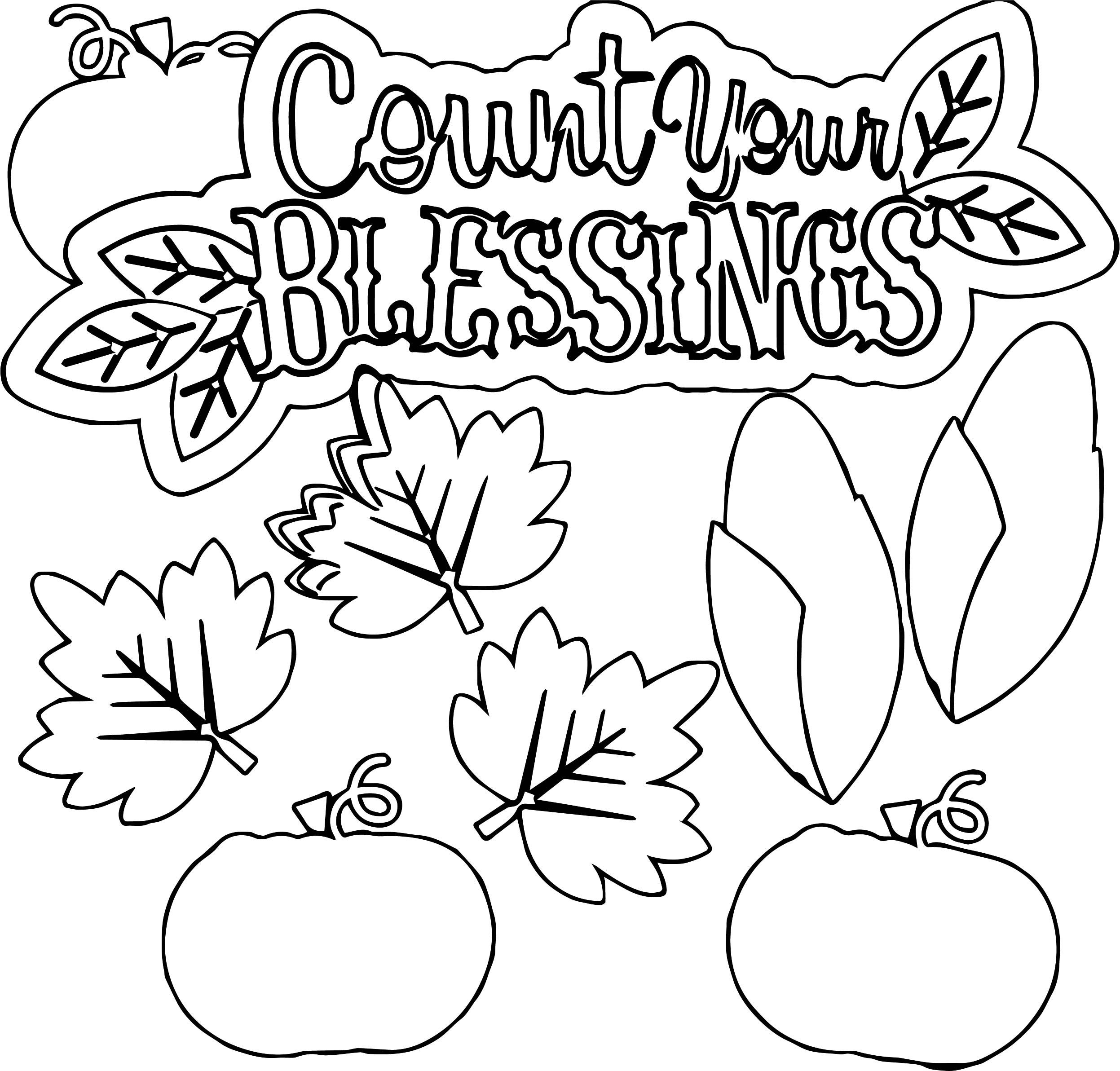 Awesome Large Count Your Blessings Coloring Page