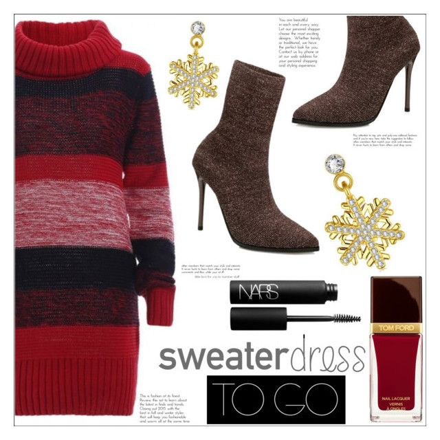 """Sweater Dress to Go"" by mycherryblossom ❤ liked on Polyvore featuring Tom Ford and NARS Cosmetics"