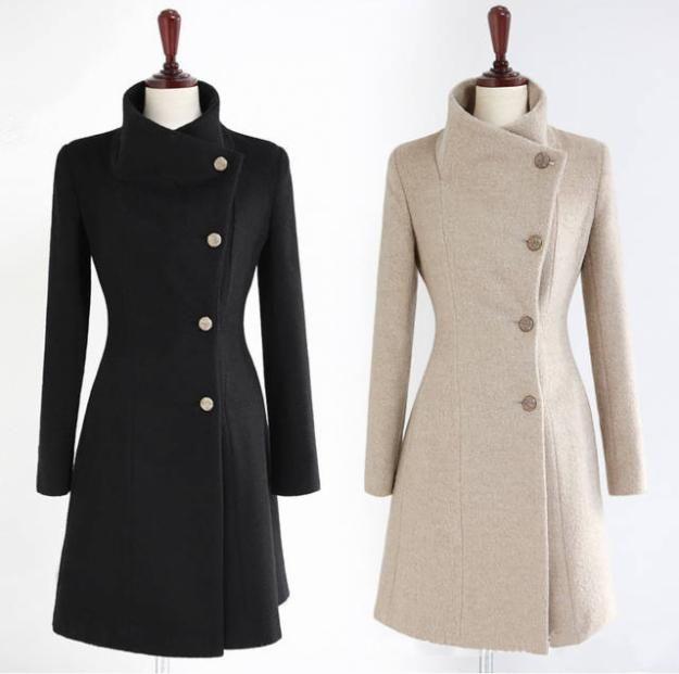 Patrón de Abrigo largo de cuello alto | DIY costura | Pinterest ...
