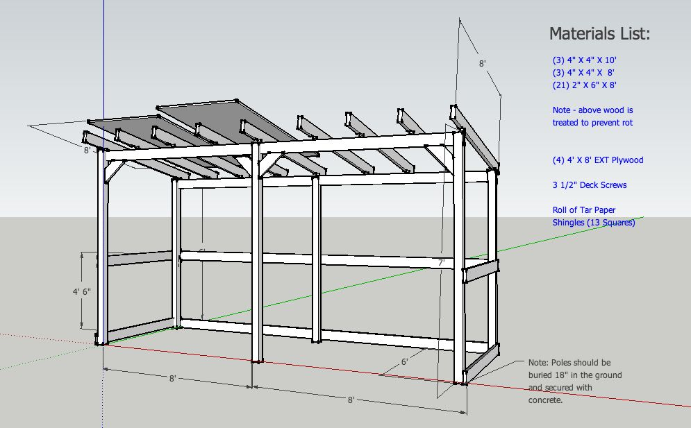 Wood shed roof pitch google search wood shed for Wood shed plans