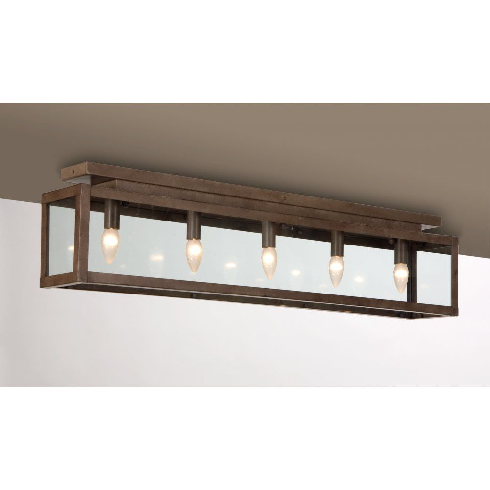 Zenia Rustic Low Ceiling Light Ing In Rusty Metal Finish Traditional Kitchen Lighting For Ceilings From The Company
