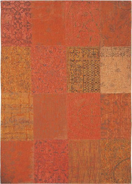 Louis De Poortere Vintage Patchwork Rug Orange