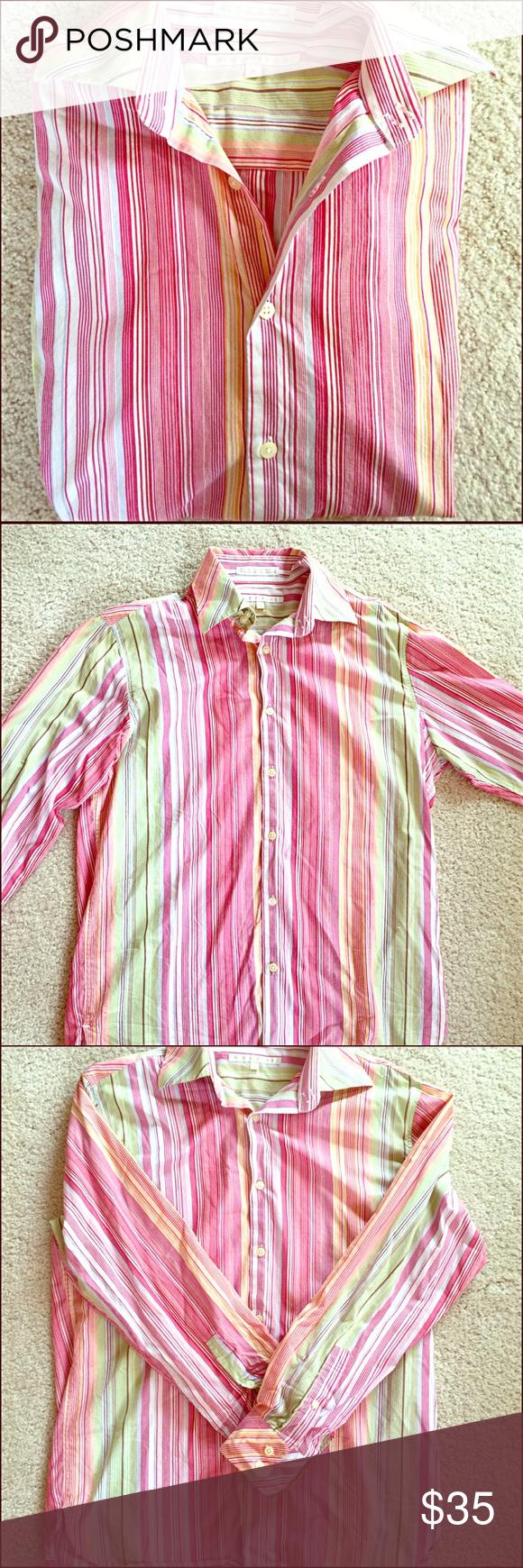 Casual pink dress shirt  HPPERRY ELLIS MENSu DRESS or CASUAL DRESS SHIRT Boutique  Perry
