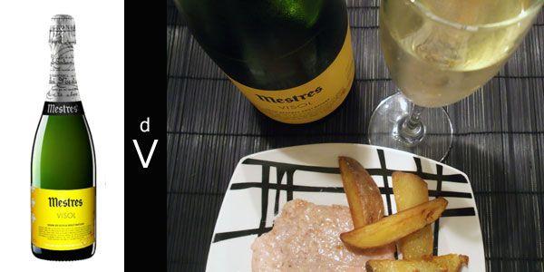 Mestres Visol 2007 Patatas Decantador De Vino Y Hamburguesas De