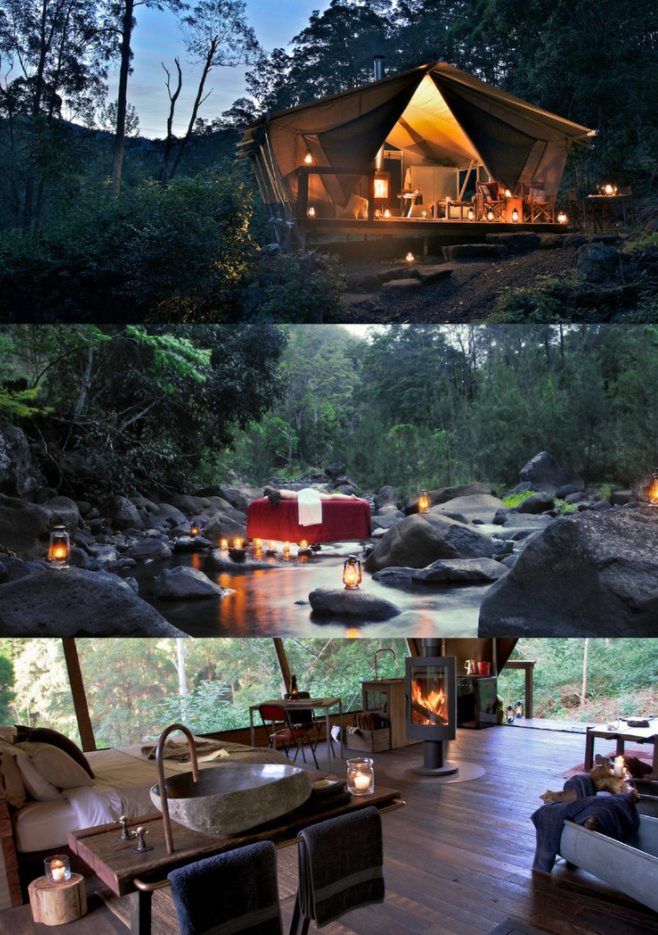 Nestled In A Region Appropriately Named Lost World This Glamorous Camping Experience Brings The Bougie To House Styles Travel Destinations Camping Experience