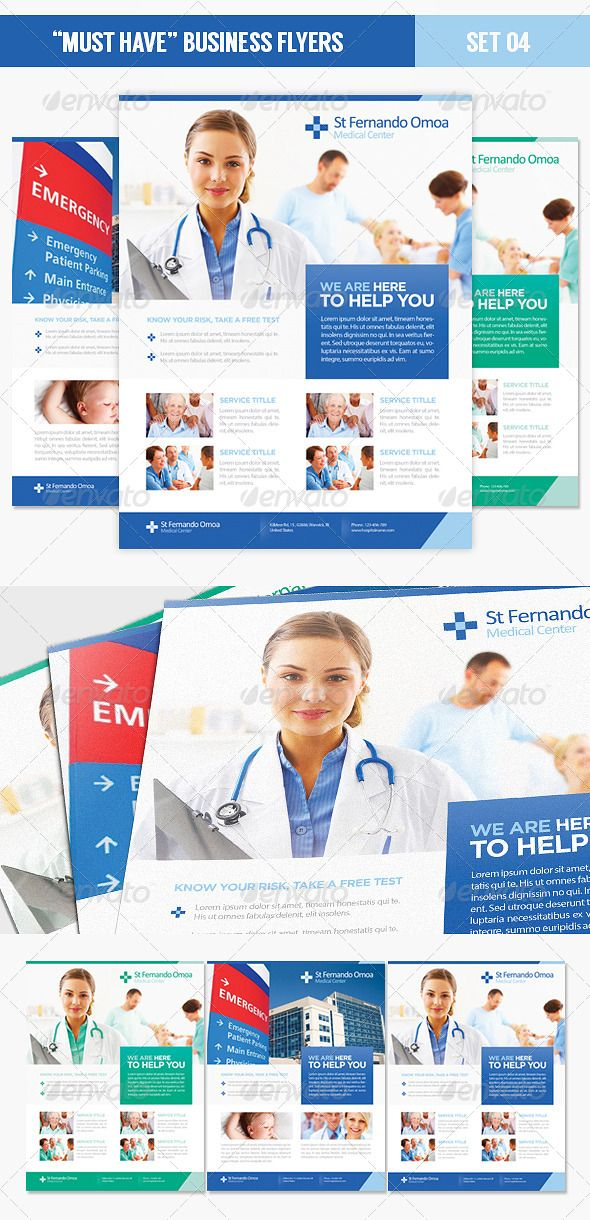 Must Have - hospital flyer template