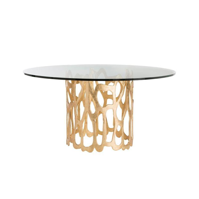 Arteriors 2430 54 Brampton 54 Diameter Glass Top Dining Table