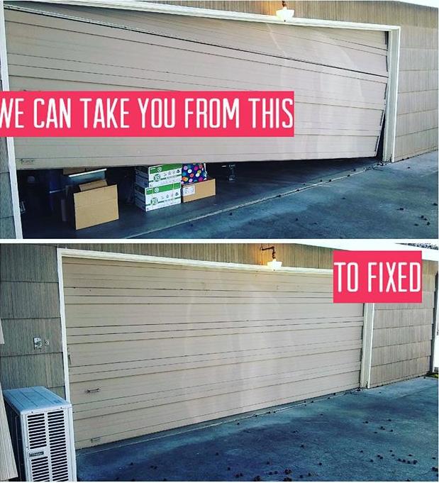 Broken Garage Door In 2020 Door Repair Garage Doors Garage Door Repair