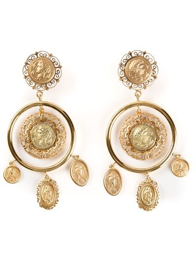 DOLCE and GABBANA Coin Earrings - I WANT
