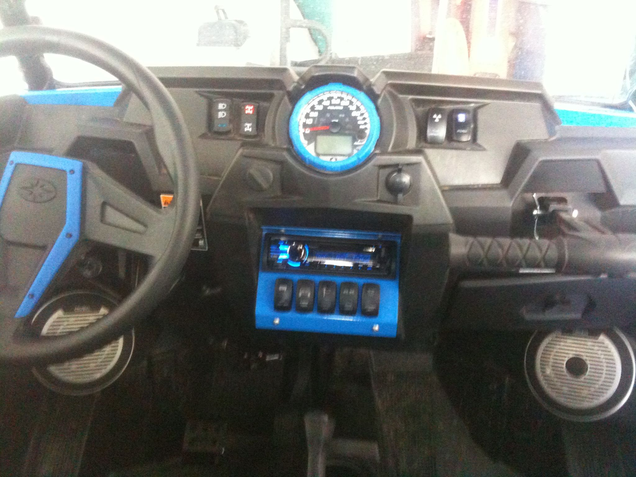Rzr In Dash Stereo Plate With 5 Switch Slots Multiple