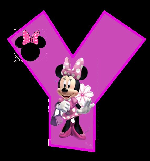 Minnie Free Alphabet In Purple Alfabeto Purpura De