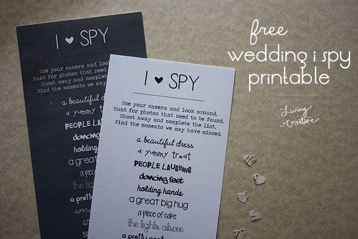 Free I Spy Wedding Printable Living Your Creative Wedding Printables Wedding With Kids Wedding Freebies