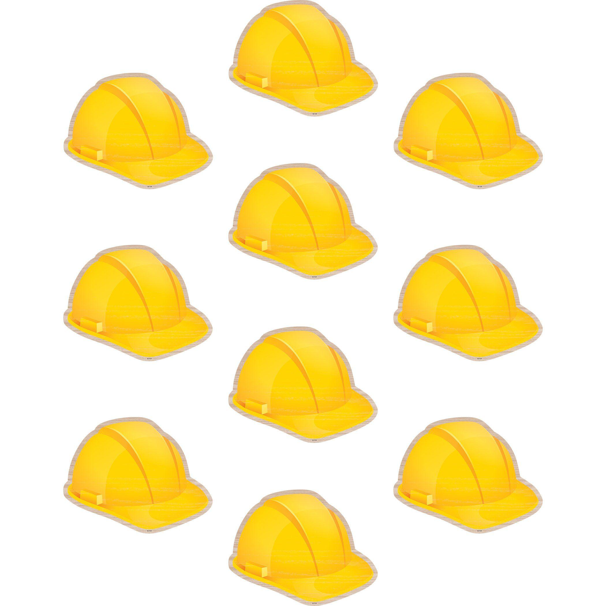 Construction Hard Hats Accents In 2021 Hard Hats Construction Theme Classroom Bulletin Board Decor