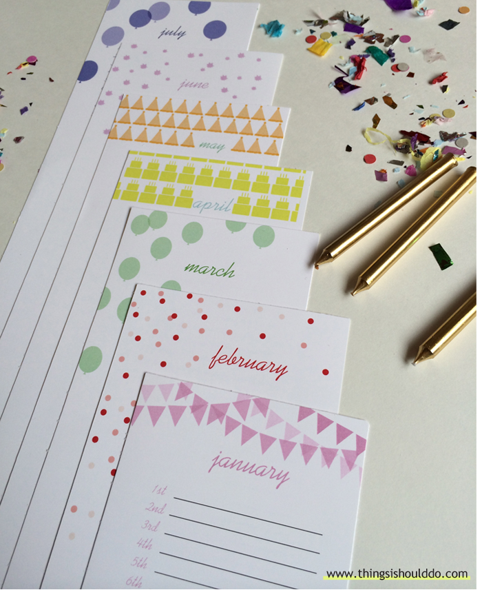 Free Printable The Perpetual Birthday Calendar  List Birthdays