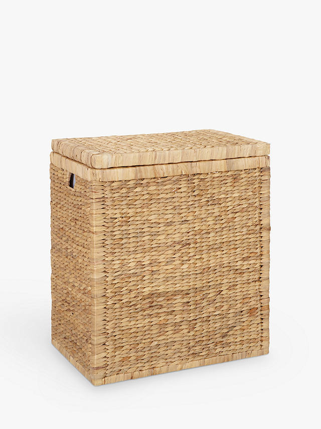 John Lewis Partners Water Hyacinth Double Laundry Hamper
