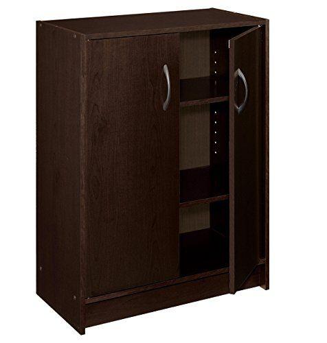 Closetmaid 892517 2 Door Stackable Laminate Organizer Espresso Click Image For More Details Closetmaid Enclosed Storage Cabinets Door Organizer