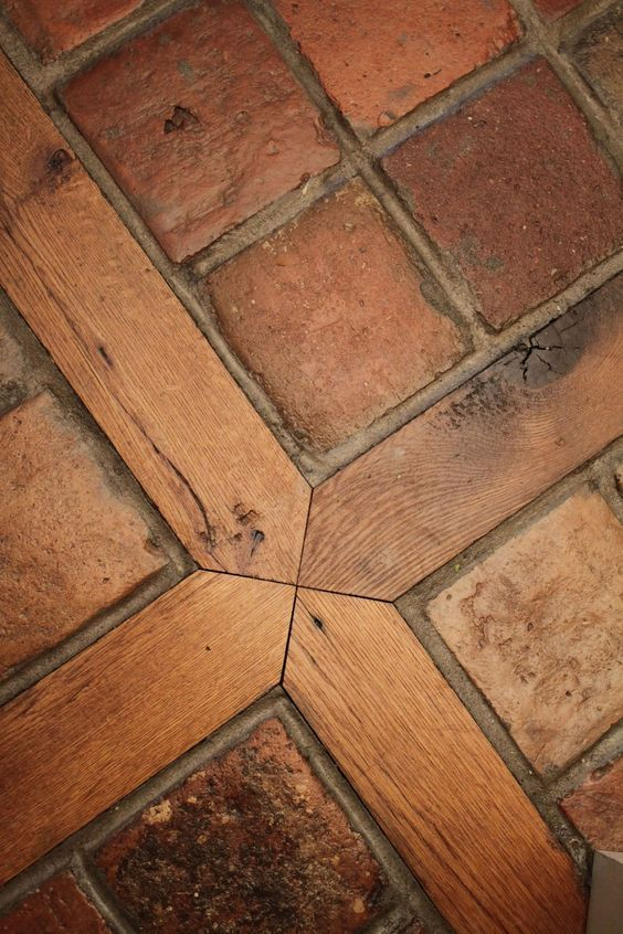 stone floors wood inlay Google Search. Love this for sun