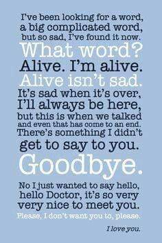 """It's sad when it's over."""