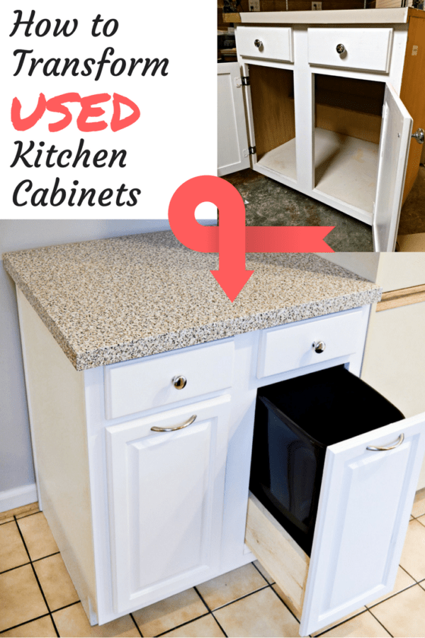 Delicieux When You Buy Used Kitchen Cabinets, You Save Money AND Keep Them Out Of  Landfills! See How I Transformed Mine Into A Trash And Recycling Cabinet  And Added ...