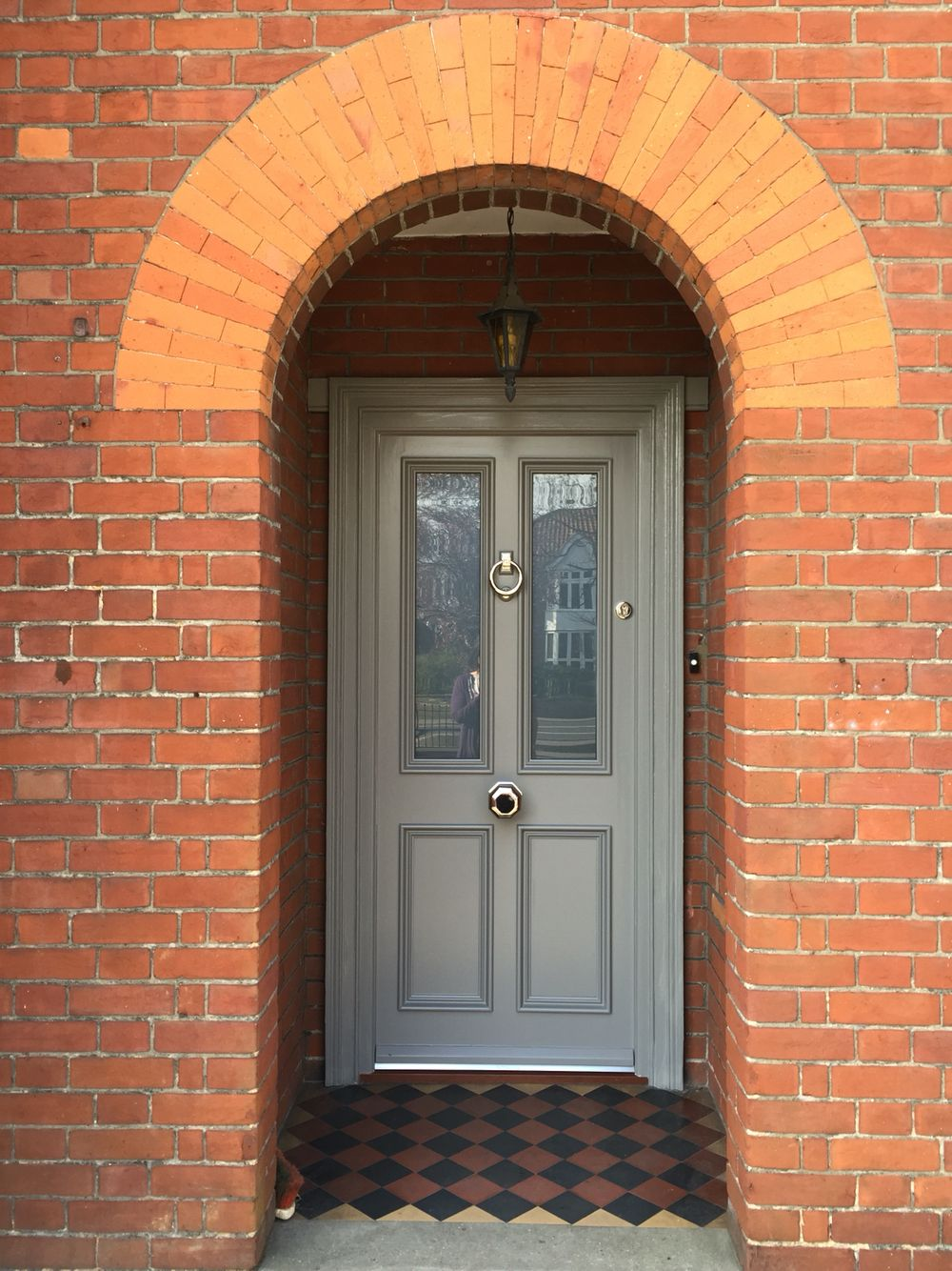 Victorian front door Farrow and ball mole\u0027s breath & Victorian front door Farrow and ball mole\u0027s breath | Interior Barn ...
