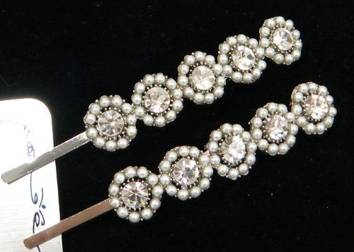 Pair of Long Clear Crystal and Pearl Bobby Pins For Weddings, Proms, Quinceanera or pageants 21 Bridal Accessories,http://www.amazon.com/dp/B004C2NQAS/ref=cm_sw_r_pi_dp_Hjw5sb0S35WN4ZZV